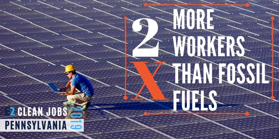 clean energy sector have 2x more works than fossil fuels